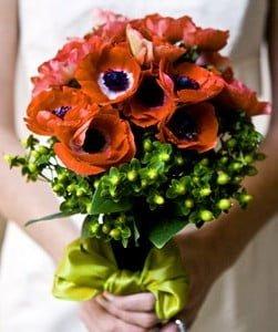 Анемоны в свадебном оформлении 4