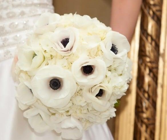Анемоны в свадебном оформлении 1