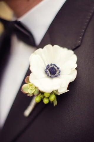 Анемоны в свадебном оформлении 3