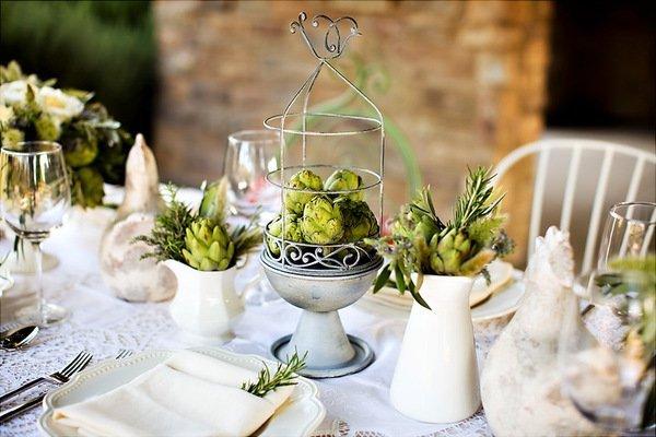 Артишоки в оформлении свадеб 5