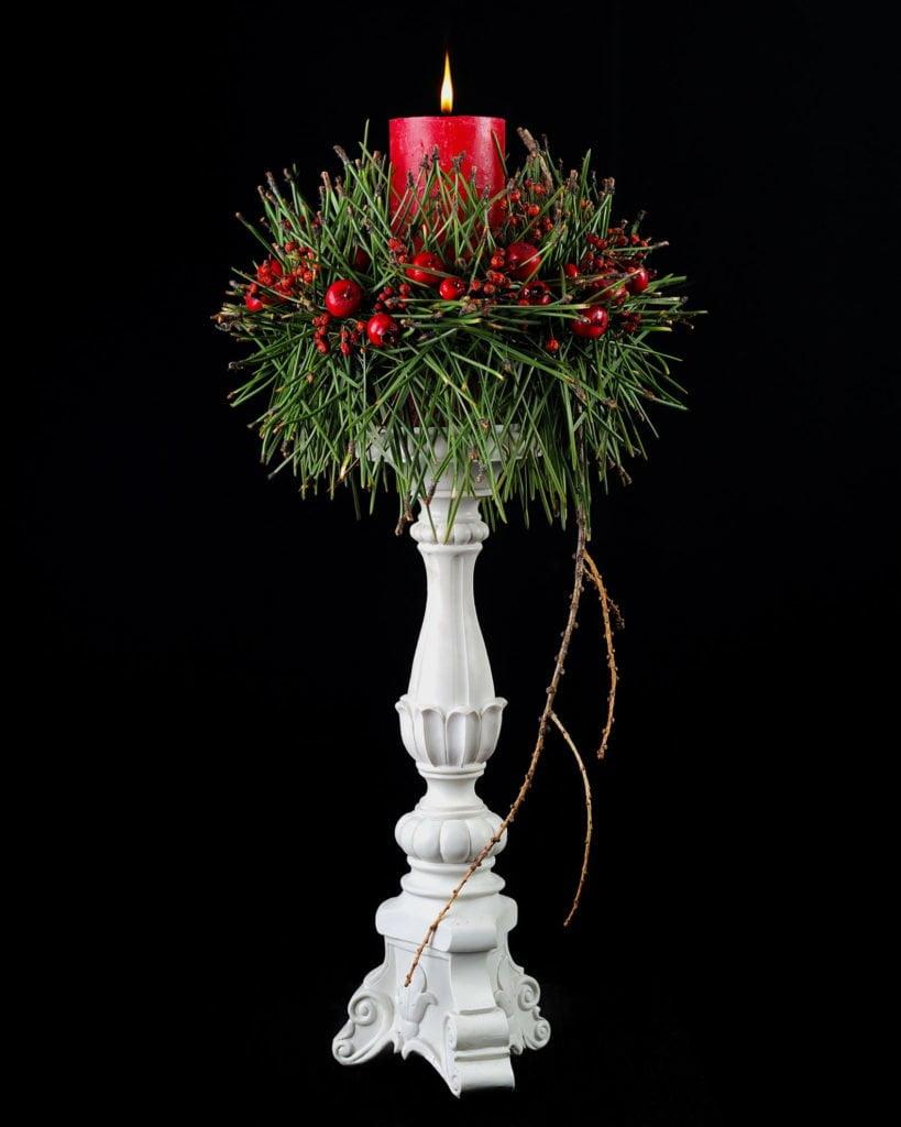 Декор свечи на новый год своими руками! 8