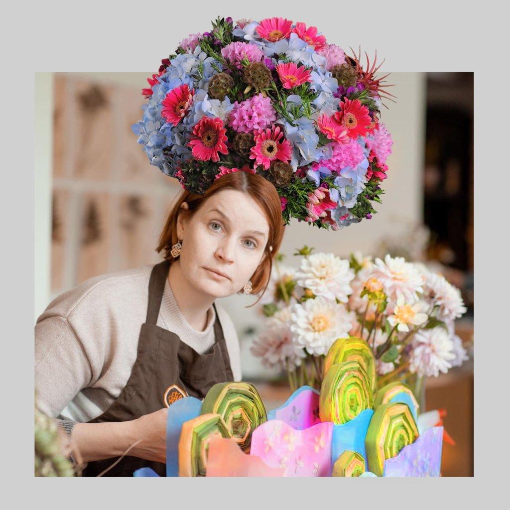 Флористические маски для сториз Казанской школы флористики Kazanflowerschool Фото @havikozoki
